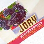 パッケージ&パッケージに味のある雑貨&チーズボックスなど  ラベルシート Jory Brand Blackberries缶 未使用パッケージ紙