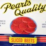 チケット、スコアパッドなどの紙物・紙モノ雑貨  ラベルシート Sliced Beets缶 未使用パッケージ紙