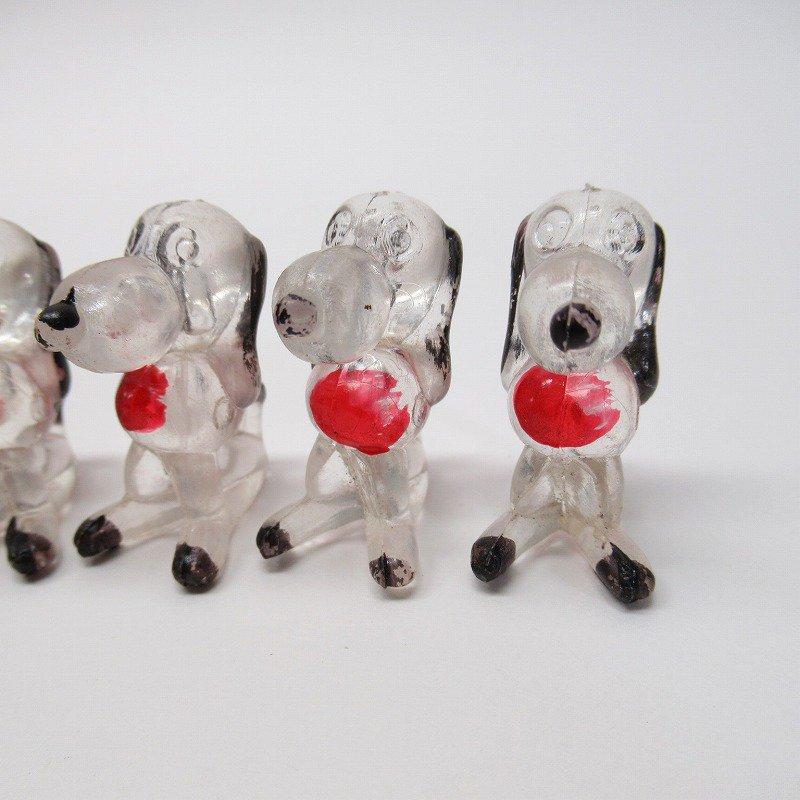 クリスタライトペッツ 1976年 フィギュア スヌーピー風 黒&赤【画像11】