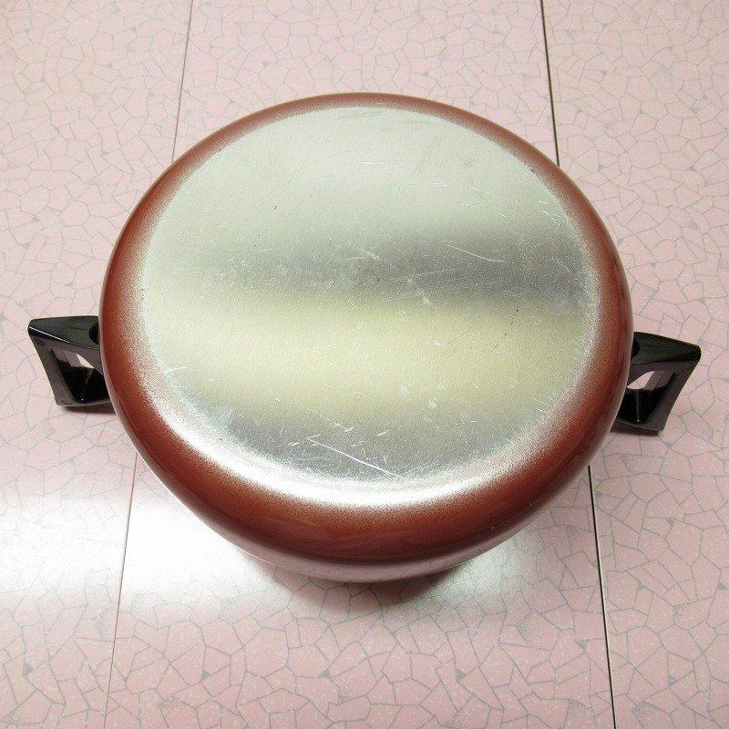 ヴィンテージ アルミ製 レッドレトロ鍋 両手ハンドル【画像12】