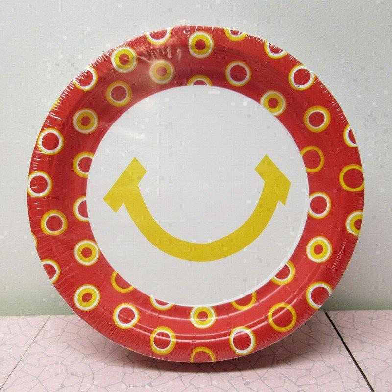 マクドナルド 並行輸入正規品 スマイル 紙皿10枚セット