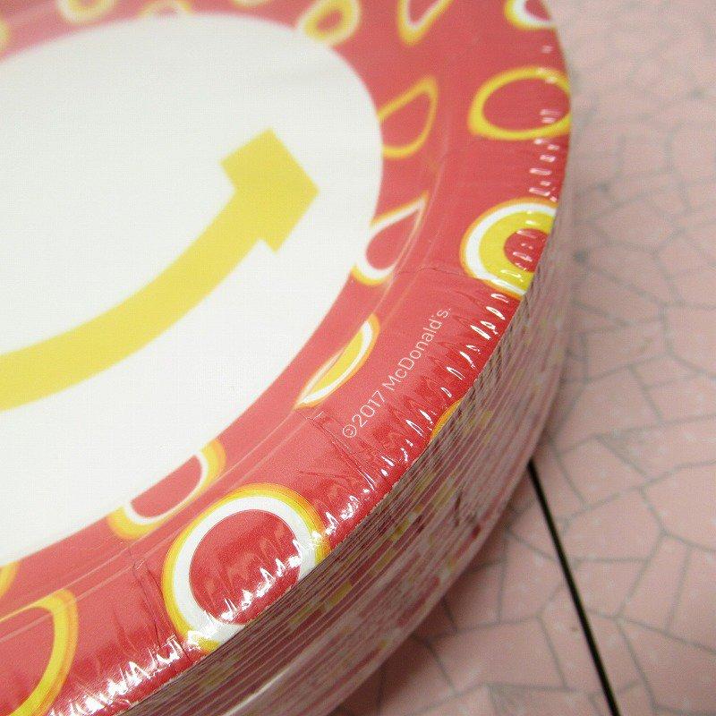 マクドナルド 並行輸入正規品 スマイル 紙皿10枚セット【画像3】