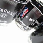 アドバタイジング  ジャックダニエル X NBA コラボ ウイスキーグラス NBAロゴ