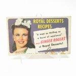 ブックス  レシピブック ロイヤルデザートレシピ 1940年 クッキングブック