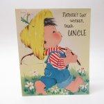 ヴィンテージ雑貨  ヴィンテージ父の日カード Father's Day, Uncle 使用済 1940年~50年代