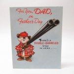 ヴィンテージ雑貨  ヴィンテージ父の日カード For You, Dad 使用済 1940年~50年代