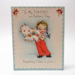 使用済  ヴィンテージ父の日カード To My Daddy 使用済 1940年~50年代