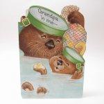 ヴィンテージ雑貨  ヴィンテージ父の日カード Grandpa ラッコ 使用済 1980年~90年代