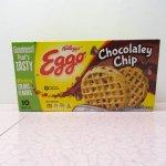 並行輸入品・現行品食品パッケージなど  ケロッグ EGGOワッフル フードボックス チョコチップ