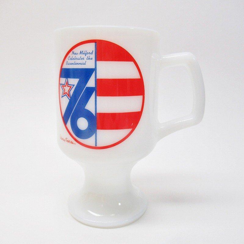 フェデラルグラスマグ 1976年 New Milford 米国200周年記念 B