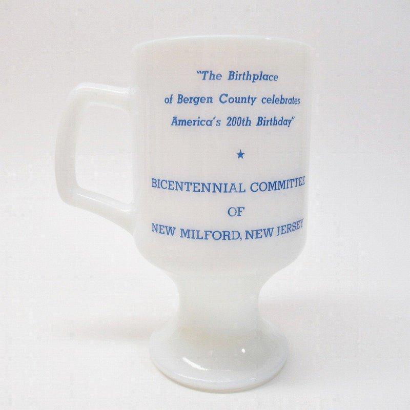 フェデラルグラスマグ 1976年 New Milford 米国200周年記念 B【画像3】