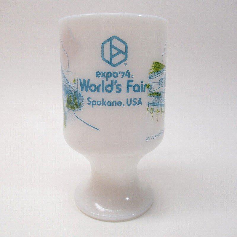 フェデラルグラスマグ Expo' 74 World's Fair オリジナルプライスタグ付き【画像4】