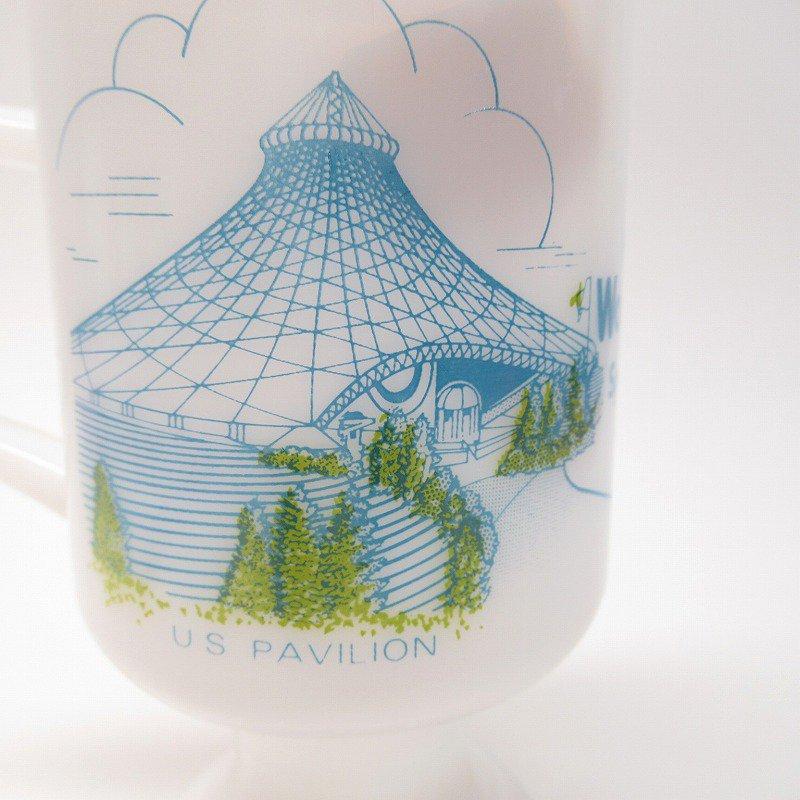 フェデラルグラスマグ Expo' 74 World's Fair オリジナルプライスタグ付き【画像5】