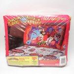 シーツ&ハンドメイド素材  ヴィンテージシーツ&ピローケース3点セット デッドストック リングリングブラザーズサーカス