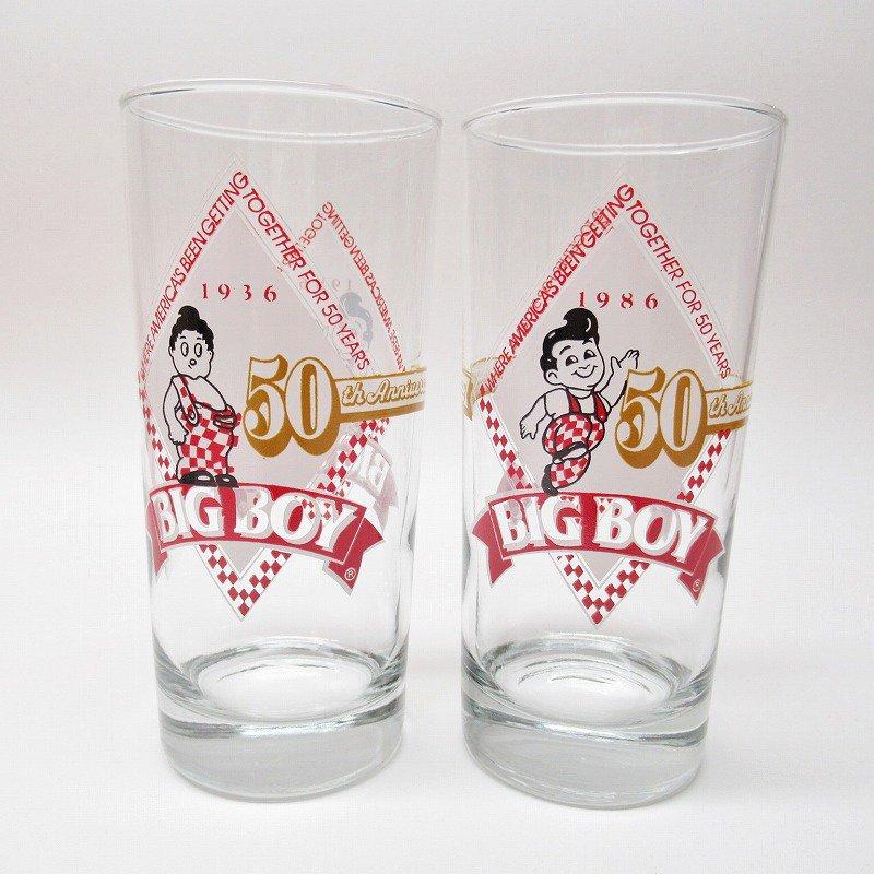 ビッグボーイ Big Boy 50周年記念トールグラス デッドストック 1986年