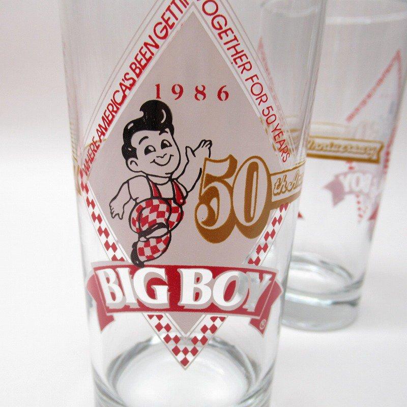 ビッグボーイ Big Boy 50周年記念トールグラス デッドストック 1986年【画像4】