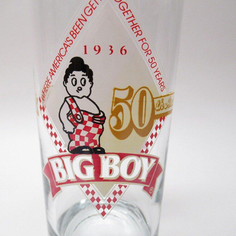 ビッグボーイ Big Boy 50周年記念トールグラス デッドストック 1986年 訳有【画像2】
