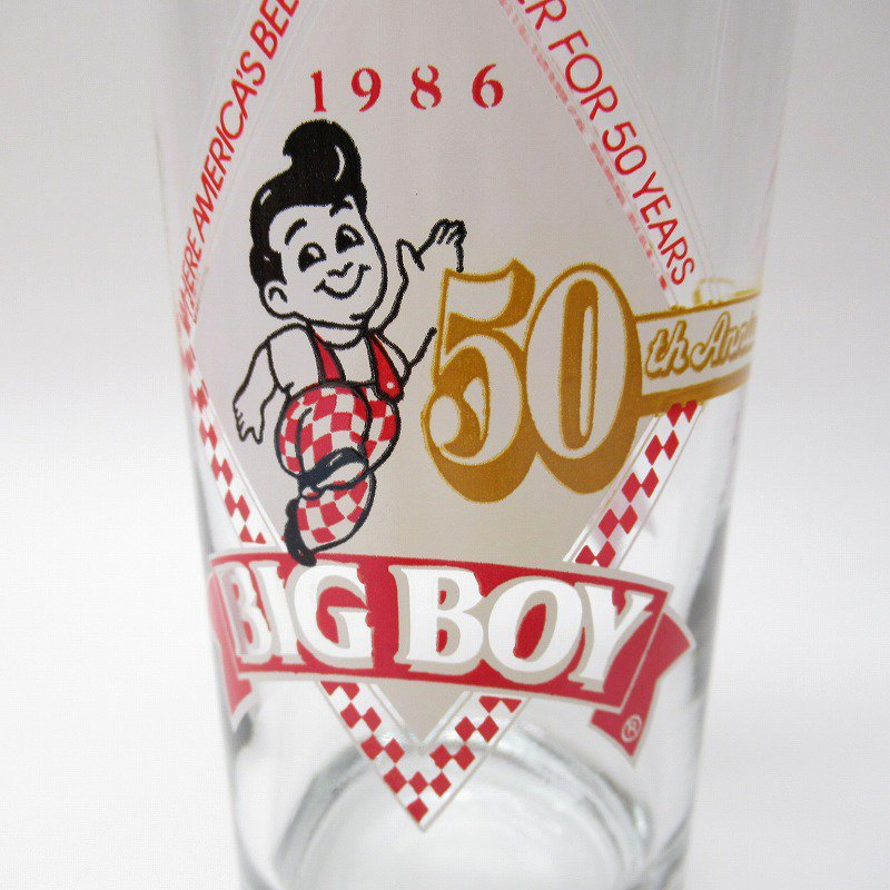 ビッグボーイ Big Boy 50周年記念トールグラス デッドストック 1986年 訳有【画像11】