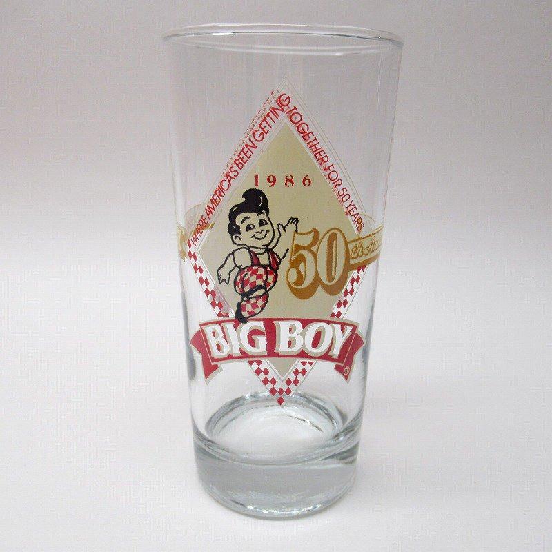 ビッグボーイ Big Boy 50周年記念トールグラス デッドストック 1986年 訳有【画像4】