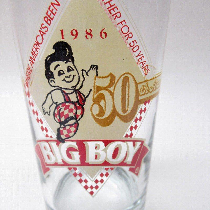 ビッグボーイ Big Boy 50周年記念トールグラス デッドストック 1986年 訳有【画像5】