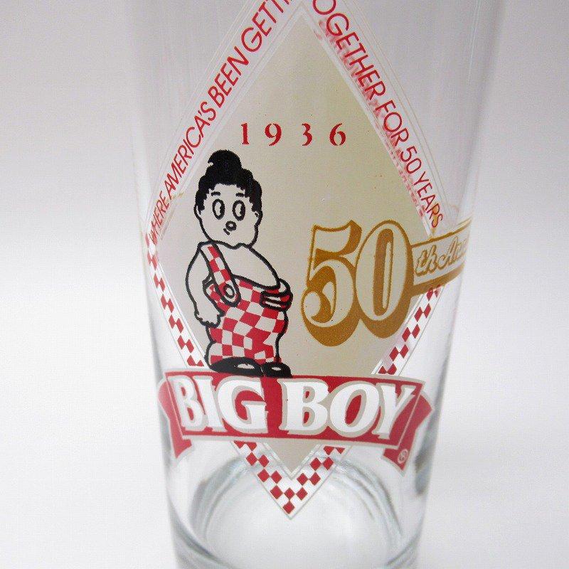 ビッグボーイ Big Boy 50周年記念トールグラス デッドストック 1986年 訳有【画像10】