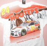 HOOTERS フーターズ & NASCAR 正規品 コラボ全面プリントTシャツ メンズ 2XL デッドストック