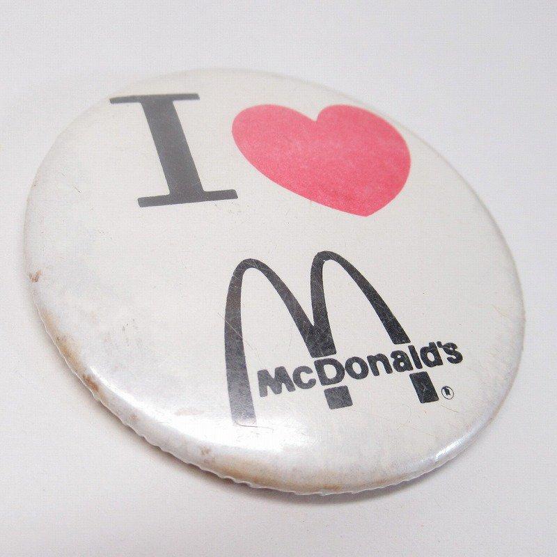 マクドナルド 缶バッチ I LOVE McDonald