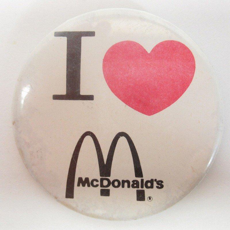 マクドナルド 缶バッチ I LOVE McDonald【画像2】