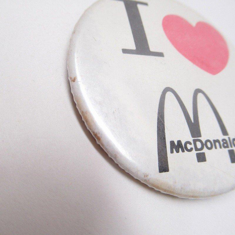 マクドナルド 缶バッチ I LOVE McDonald【画像3】