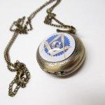 ミラー&コームなどその他服飾雑貨全般  フリーメイソン 懐中時計 ブルー