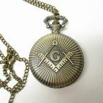 ミラー&コームなどその他服飾雑貨全般  フリーメイソン 懐中時計 真鍮製