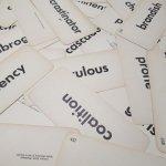 チケット、スコアパッドなどの紙物・紙モノ雑貨  紙モノセット ビッグ単語カード 5枚セット