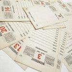 チケット、スコアパッドなどの紙物・紙モノ雑貨  紙モノセット 1937年カレンダー日めくり 20枚セット