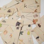紙モノアソート 1950年代〜 子供単語学習用 イラストセット A