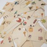 紙モノアソート 1950年代〜 子供単語学習用 イラストセット B