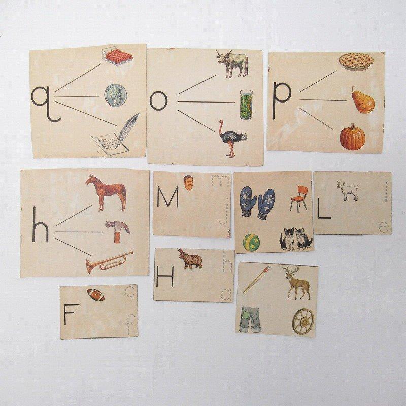 紙モノアソート 1950年代〜 子供単語学習用 イラストセット C【画像2】