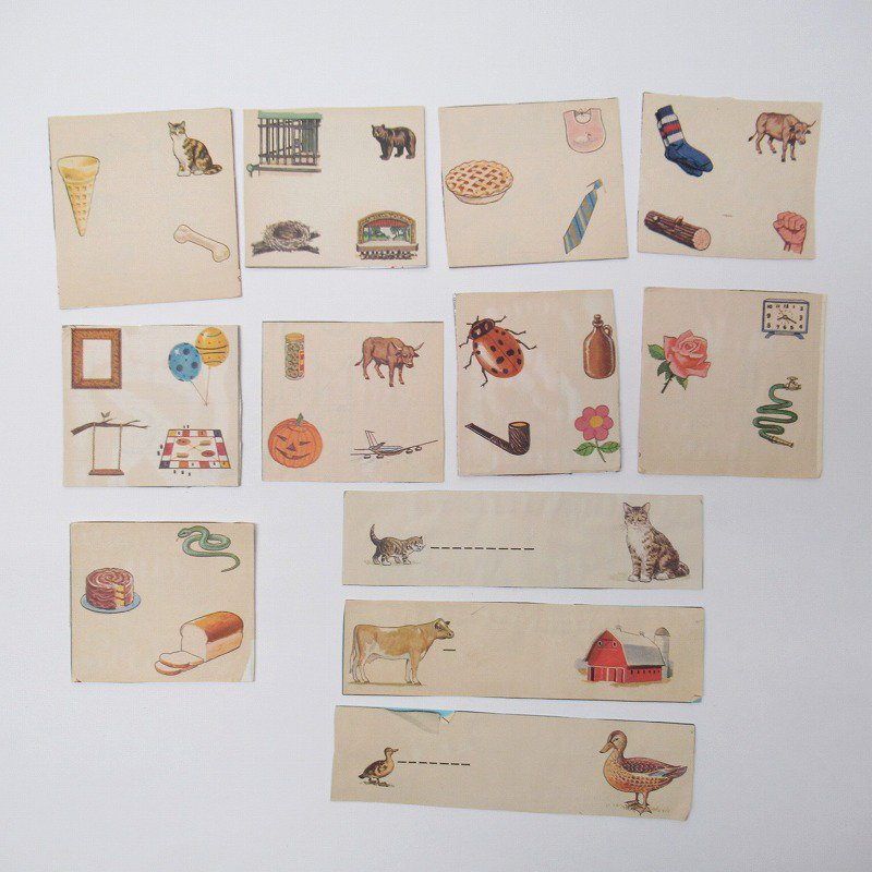 紙モノアソート 1950年代〜 子供単語学習用 イラストセット C【画像4】