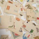 紙モノアソート 1950年代〜 子供単語学習用 イラストセット D