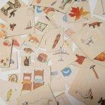 紙モノアソート 1950年代〜 子供単語学習用 イラストセット E