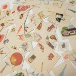 紙モノアソート 1950年代〜 子供単語学習用 イラストセット F