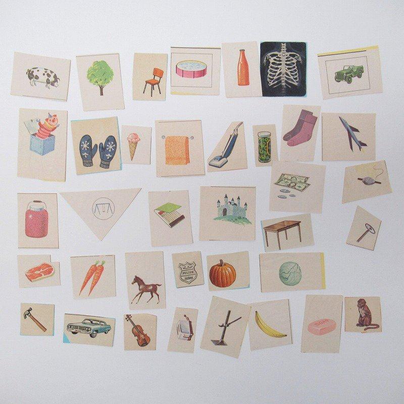 紙モノアソート 1950年代〜 子供単語学習用 イラストセット H【画像2】