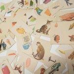 紙モノアソート 1950年代〜 子供単語学習用 イラストセット H