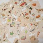 紙モノアソート 1950年代〜 子供単語学習用 イラストセット I
