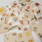 紙モノアソート 1950年代〜 子供単語学習用 イラストセット J