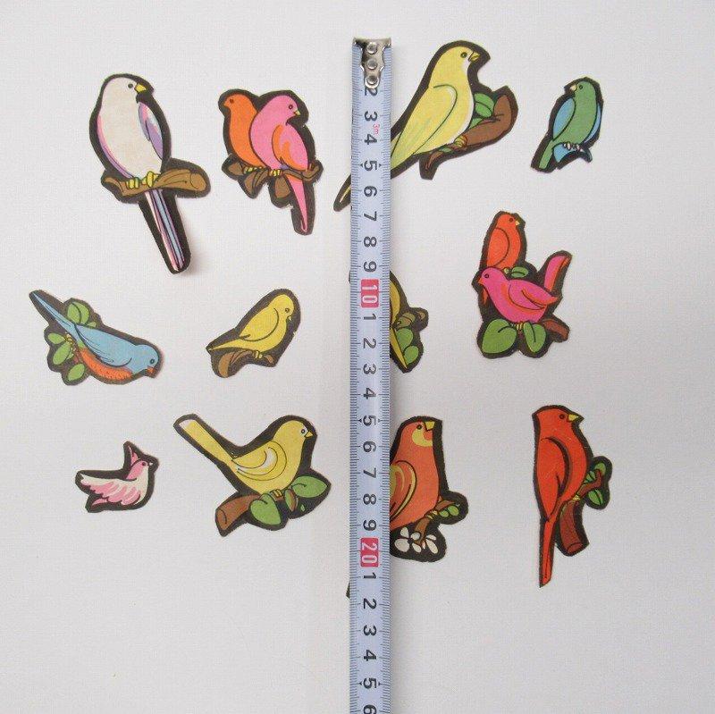 紙モノアソート 1960年代 鳥イラスト12枚セット【画像2】