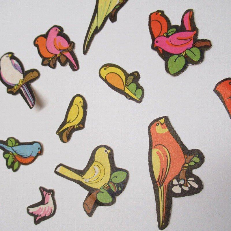 紙モノアソート 1960年代 鳥イラスト12枚セット【画像3】