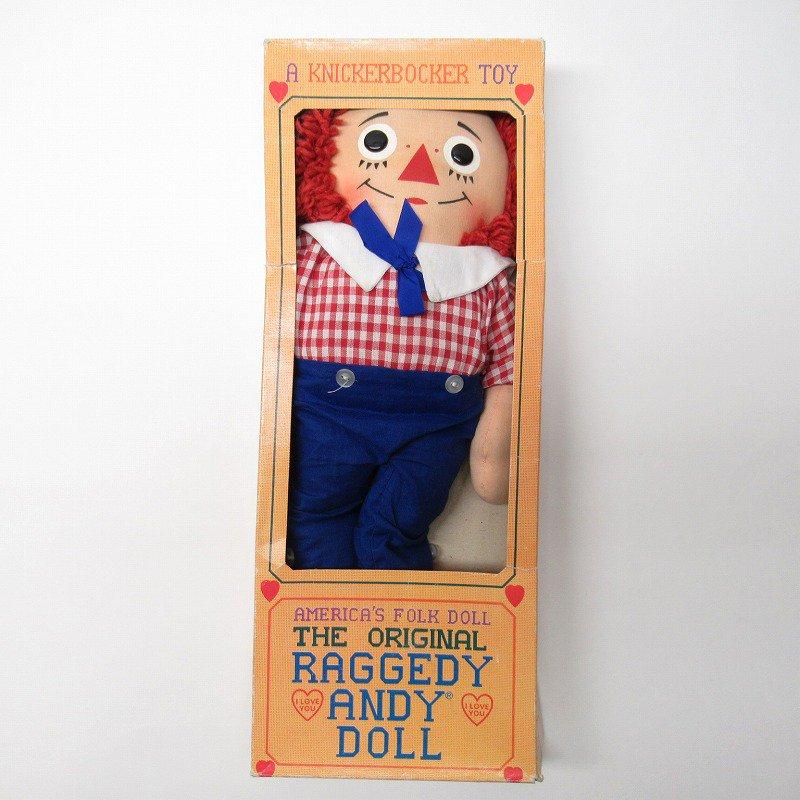 ラガディ アンディー お人形 ニッカーボッカー社 箱付き