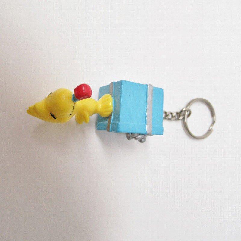 スヌーピー キーホルダー PVC製 ウッドストックとプレゼント【画像6】