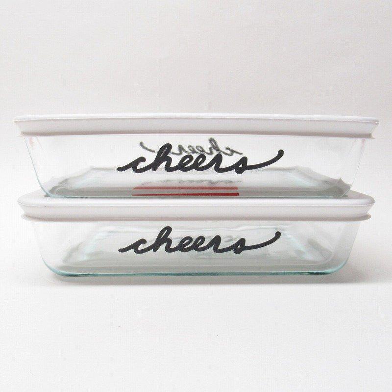 パイレックス 3カップ 並行輸入品 長方形保存容器 Cheers