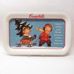 キッチン  キャンベル 1993年 キャンベルキッズとそり メタル製 トレイ